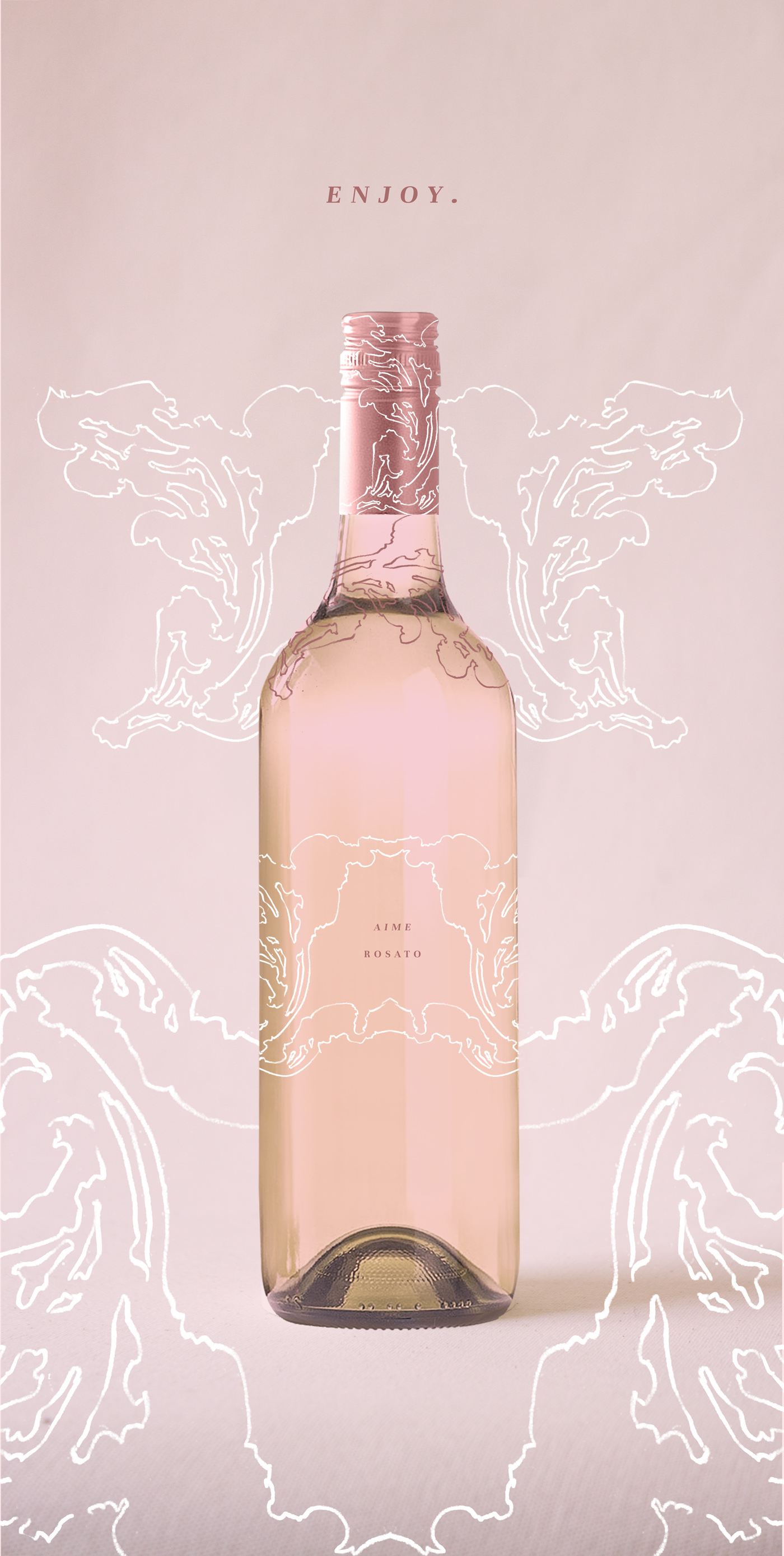Illustrated Wine Label by Laura Dreyer