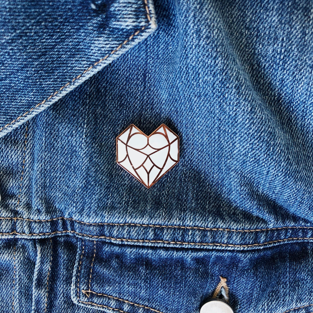 Enamel Pin by Danikqwa Rambert for her shop,  Heart and Soul PVD