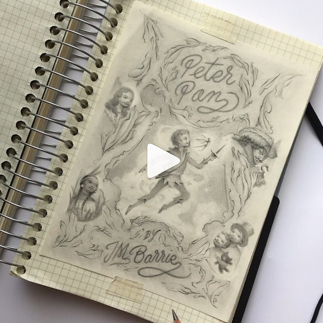 Video of the Drawing Process of My Peter Pan Book Cover!