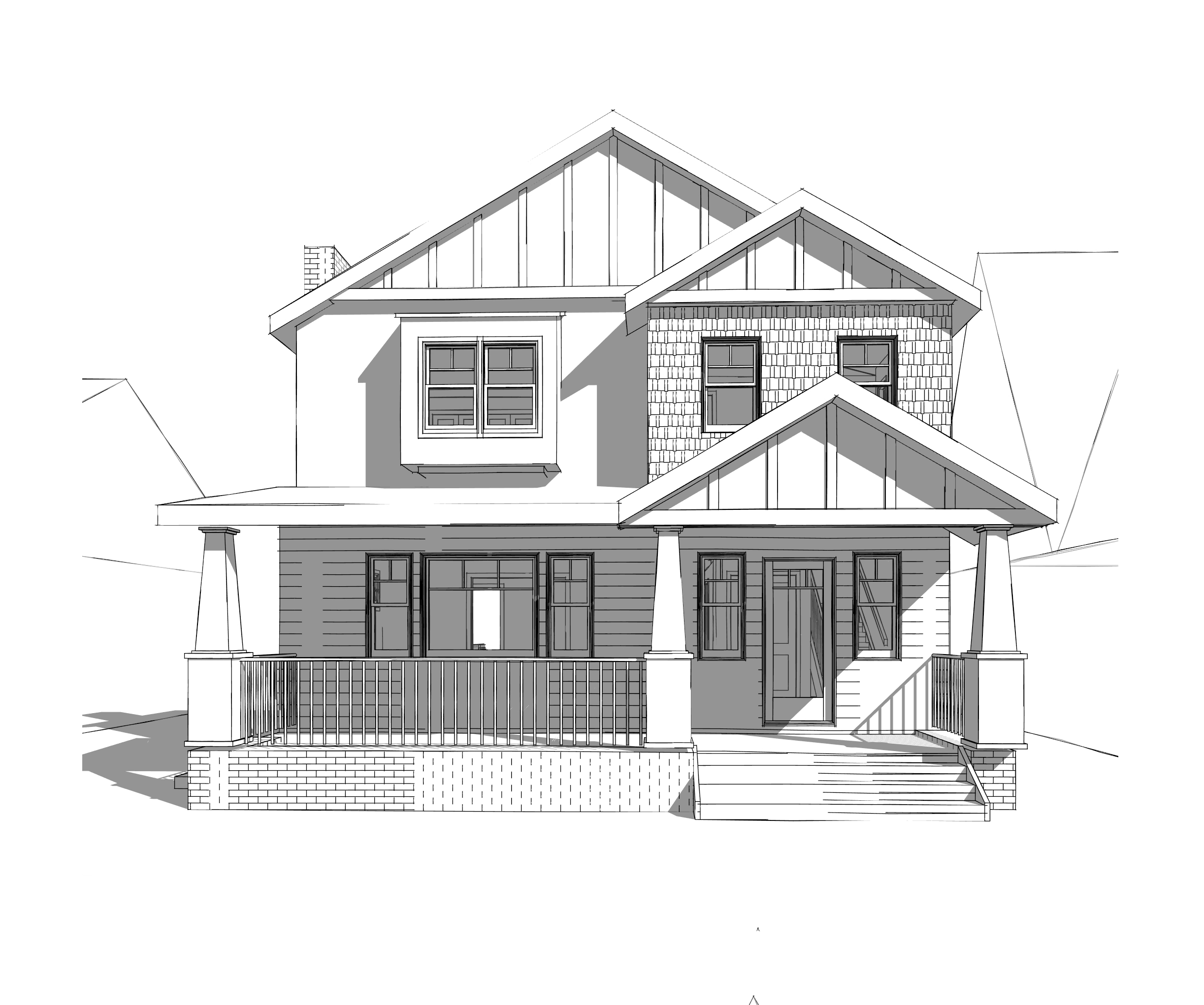 East Sacramento // ON OUR DESKS  Major Addition. 2nd story addition to 100 year old craftsman bungalow.