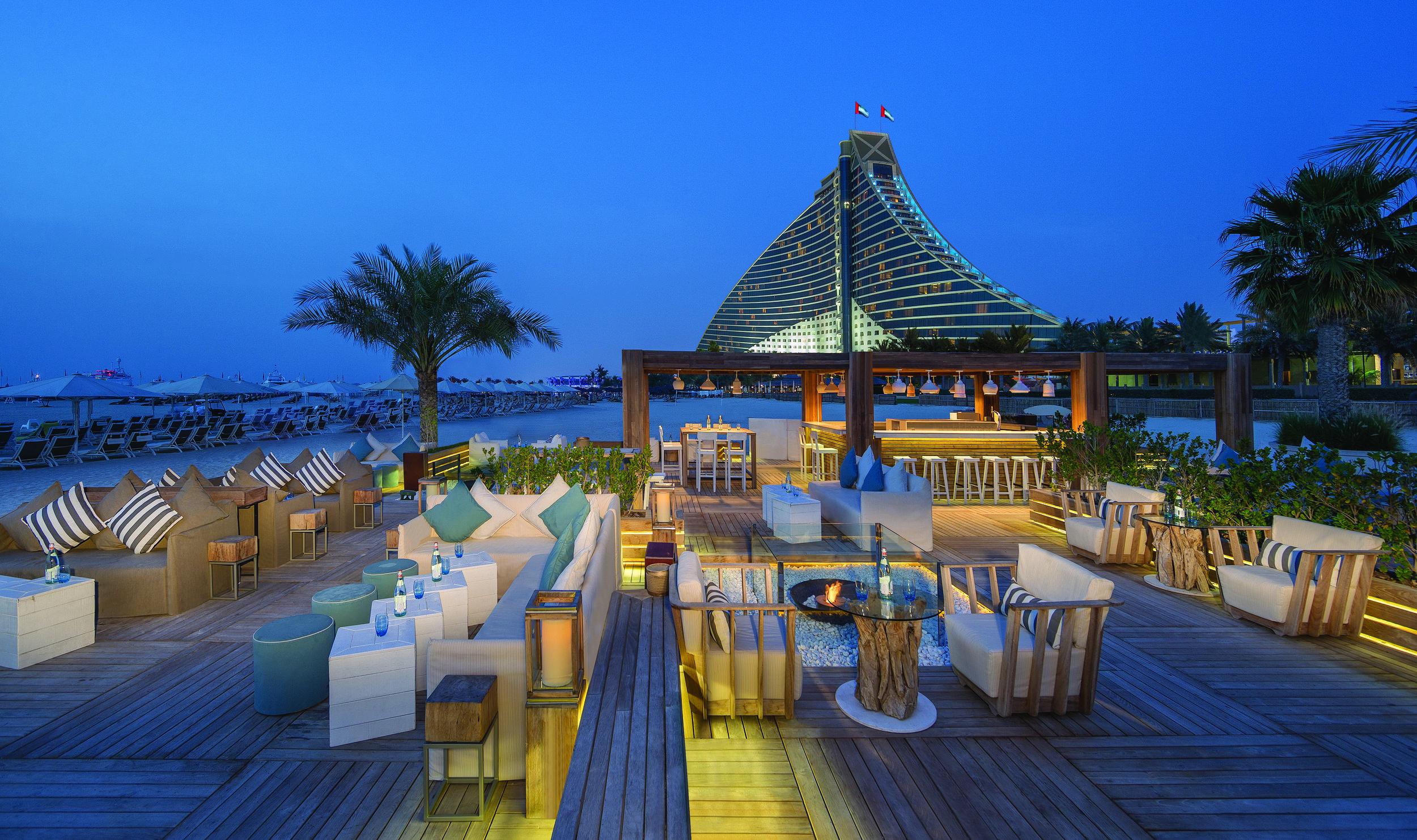 Jumeirah Beach Hotel -  Beach Lounge with Jumeirah Beach Hotel.jpg