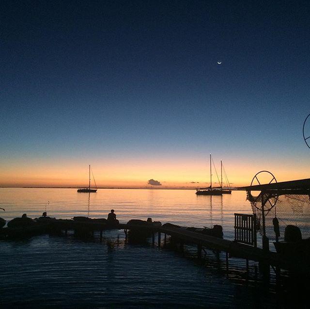 Our first motu wasn't bad atoll. #sunset #lapaillote #fakarava #tuamotu