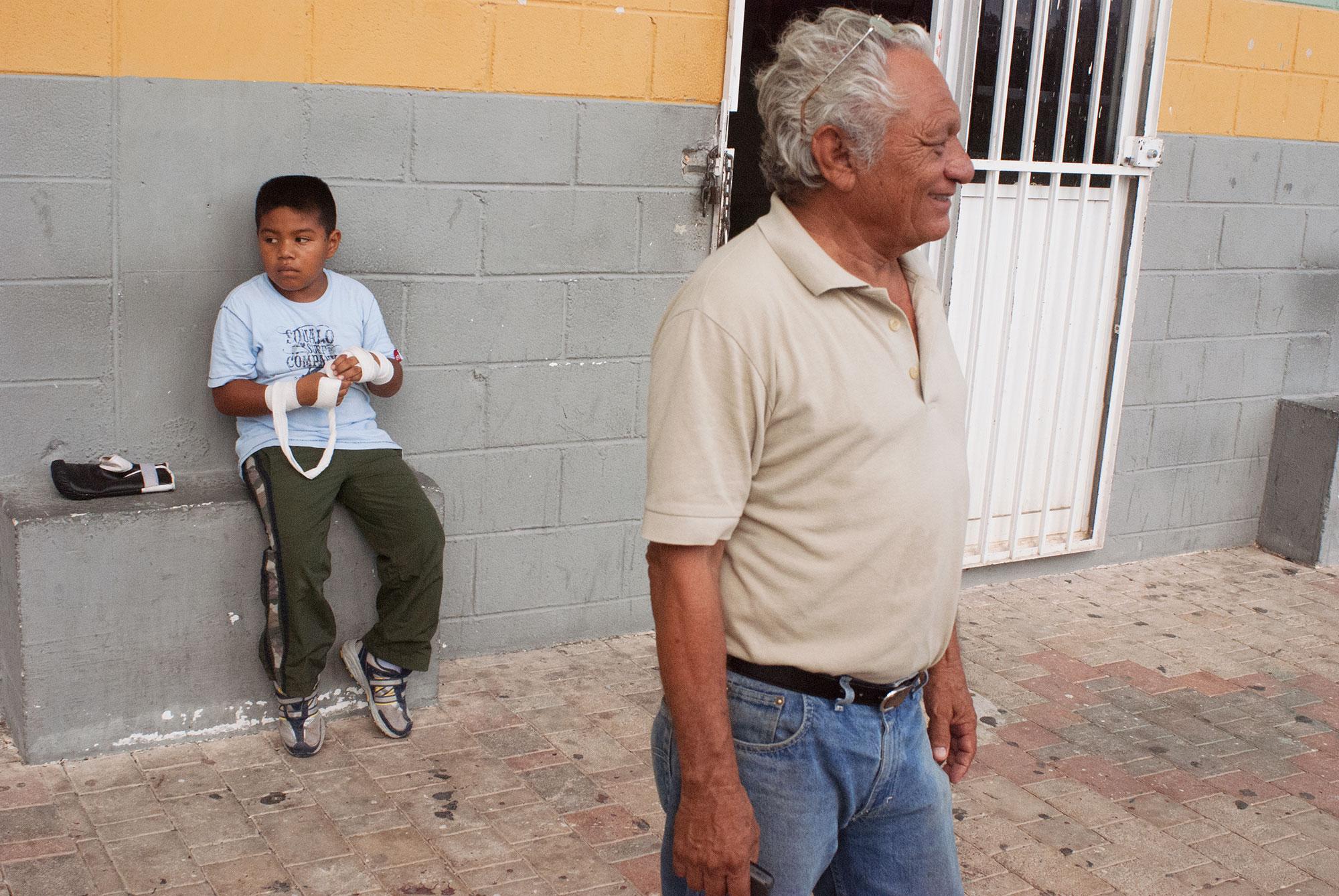 "Coach Armando ""Gavilan""(The Hawk) Cervantes dedicated over 40 years of his life teaching boxing. Originally from Progreso, Yucatan, now coaches in Playa Del Carmen."