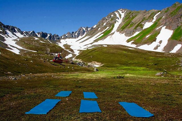 The sun is shining, the snow is melting, and we're getting excited for summertime heli yoga!!