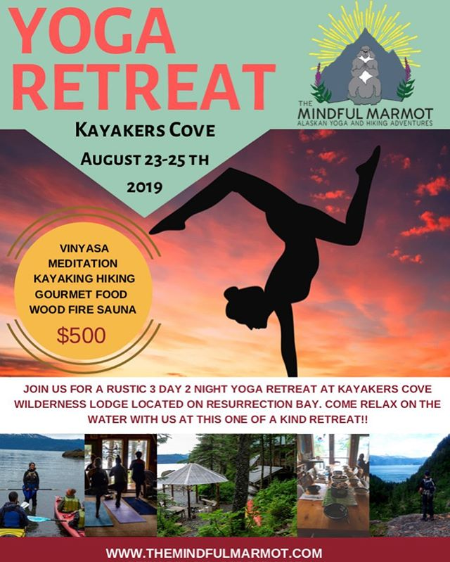 Getting excited for our next epic yoga retreat! Join us for a weekend of yoga, hiking, kayaking, and relaxing! Check out the website for more info!
