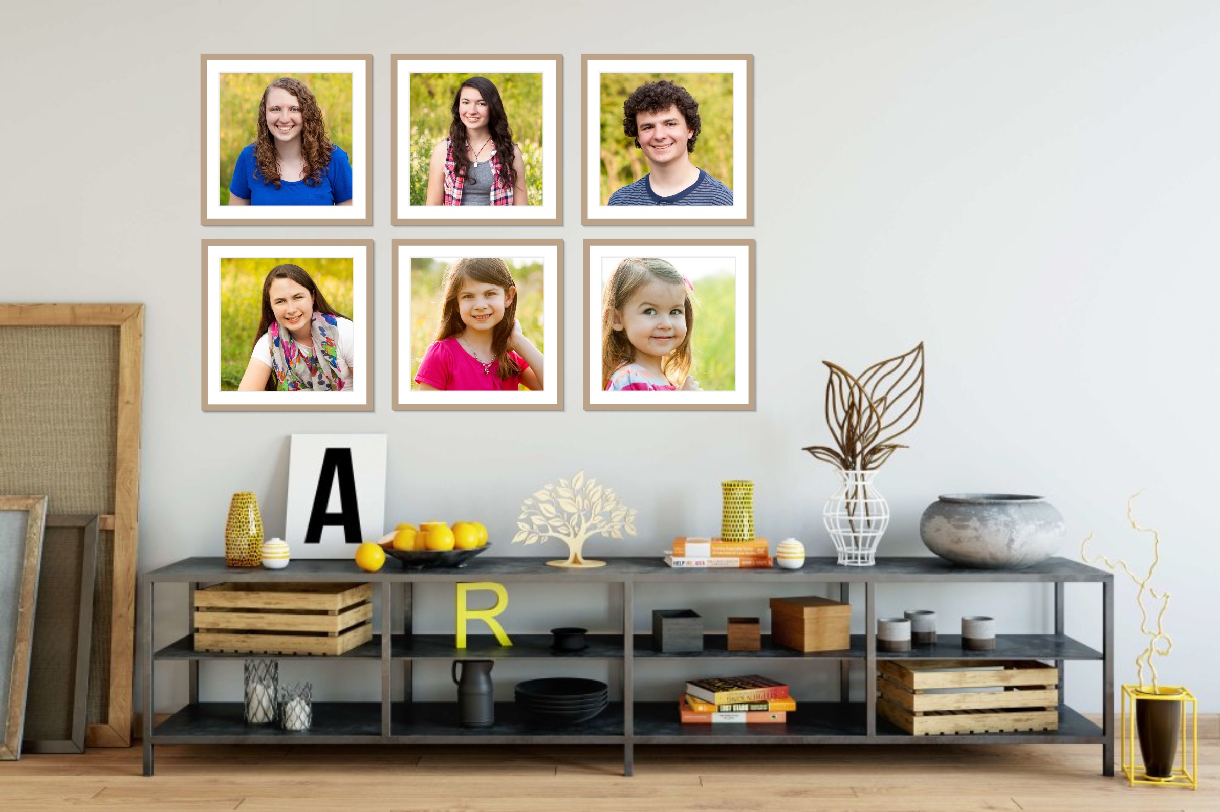 Display your family photos in your home