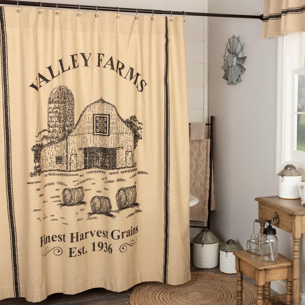 Wyatt Bear Shower Curtain 72x72 Khaki//Espresso//Moss Green Shower Curtain 72x72