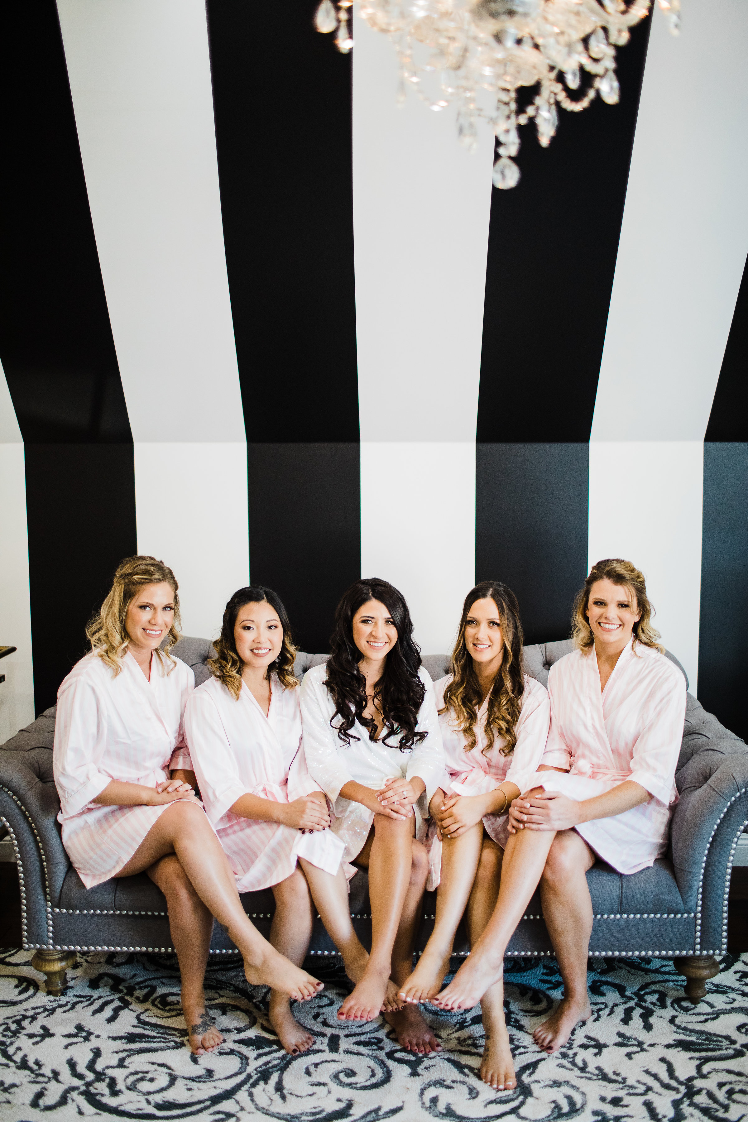 Bridesmaids robes and dresses