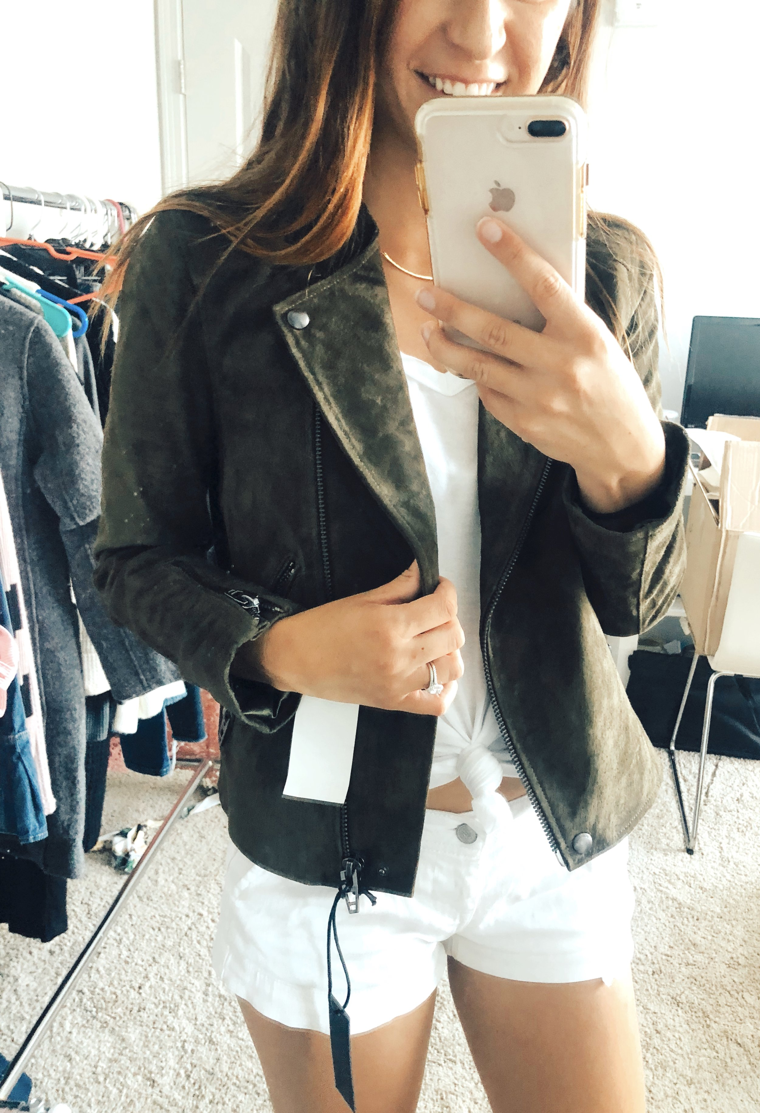 Suede Jacket  //  T-shirt
