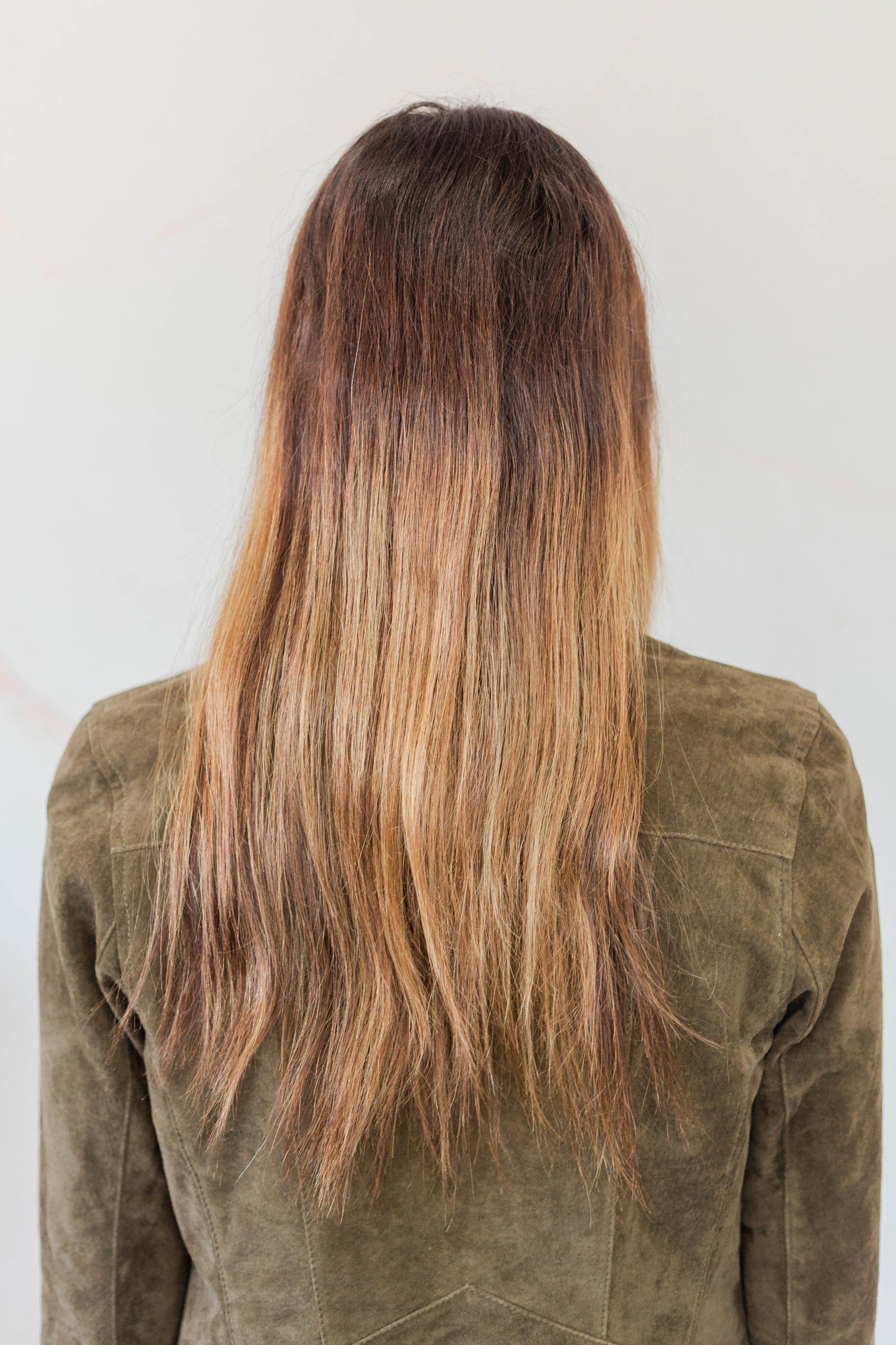 tape in hair extensions by Crown in colorado springs