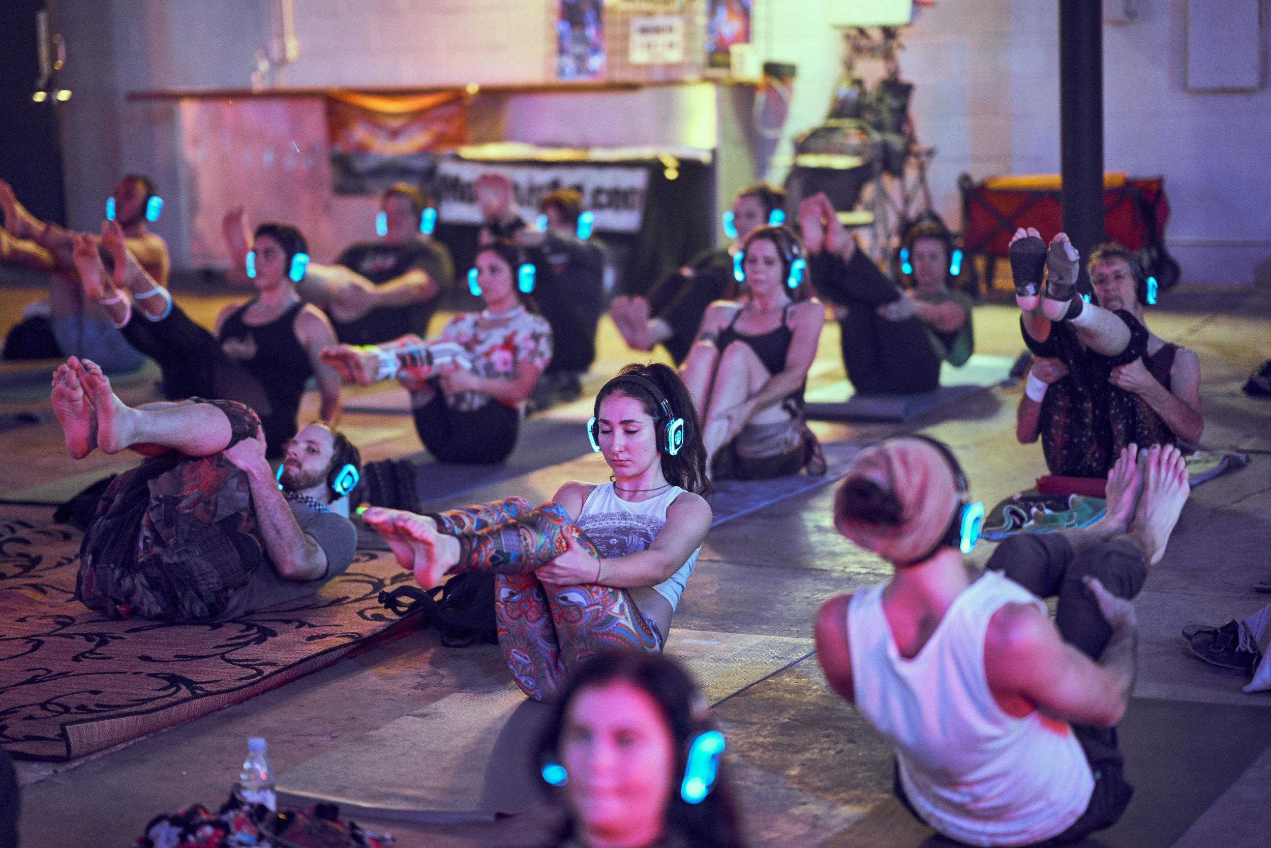 Silent Disco Yoga -