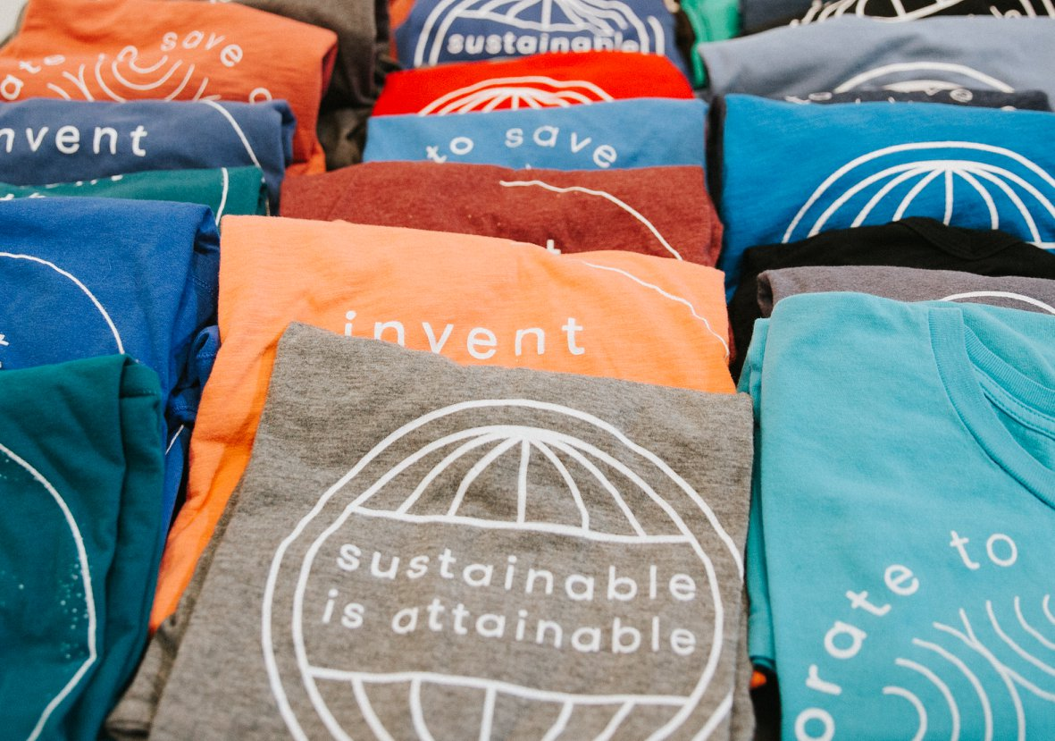 """""""Sustainable is Attainable"""" Produced during design job with Carson + Co Global, for Earthstock Event."""