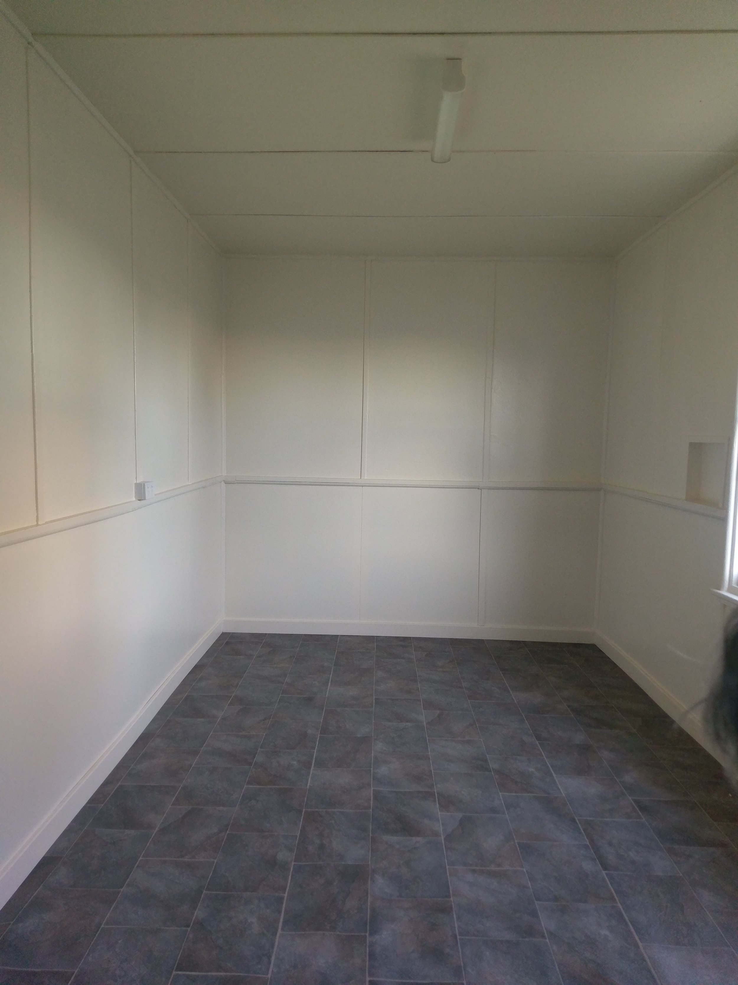 What the room looked like after all the work was completed