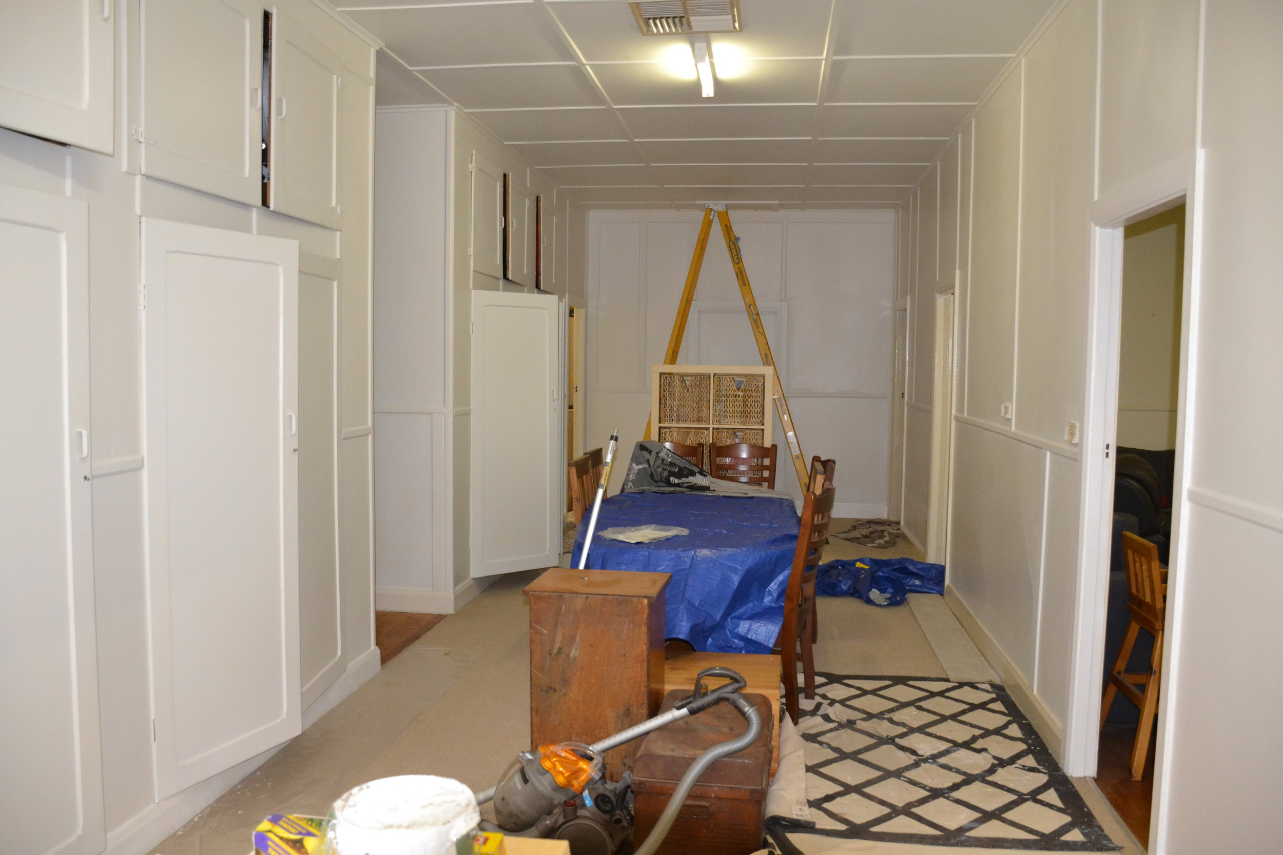 Painting the Dining Room was a big job