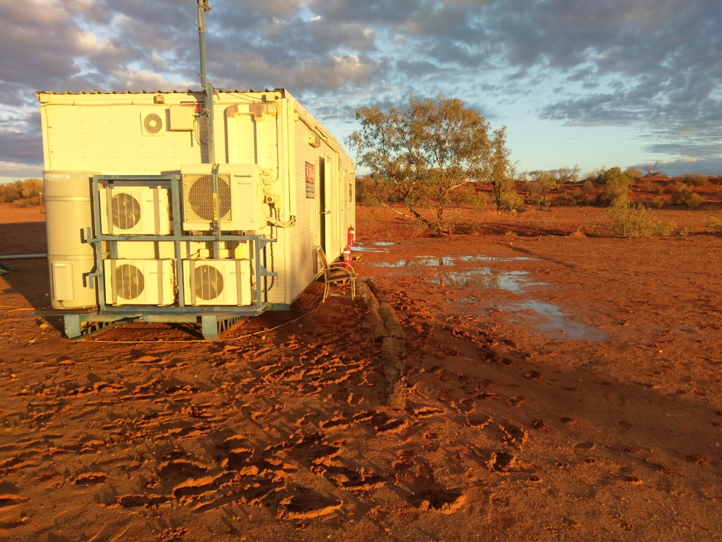 20ml of rain made it difficult to use the shower/toilet