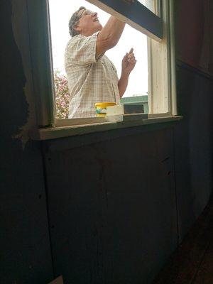Repair on the broken window was required