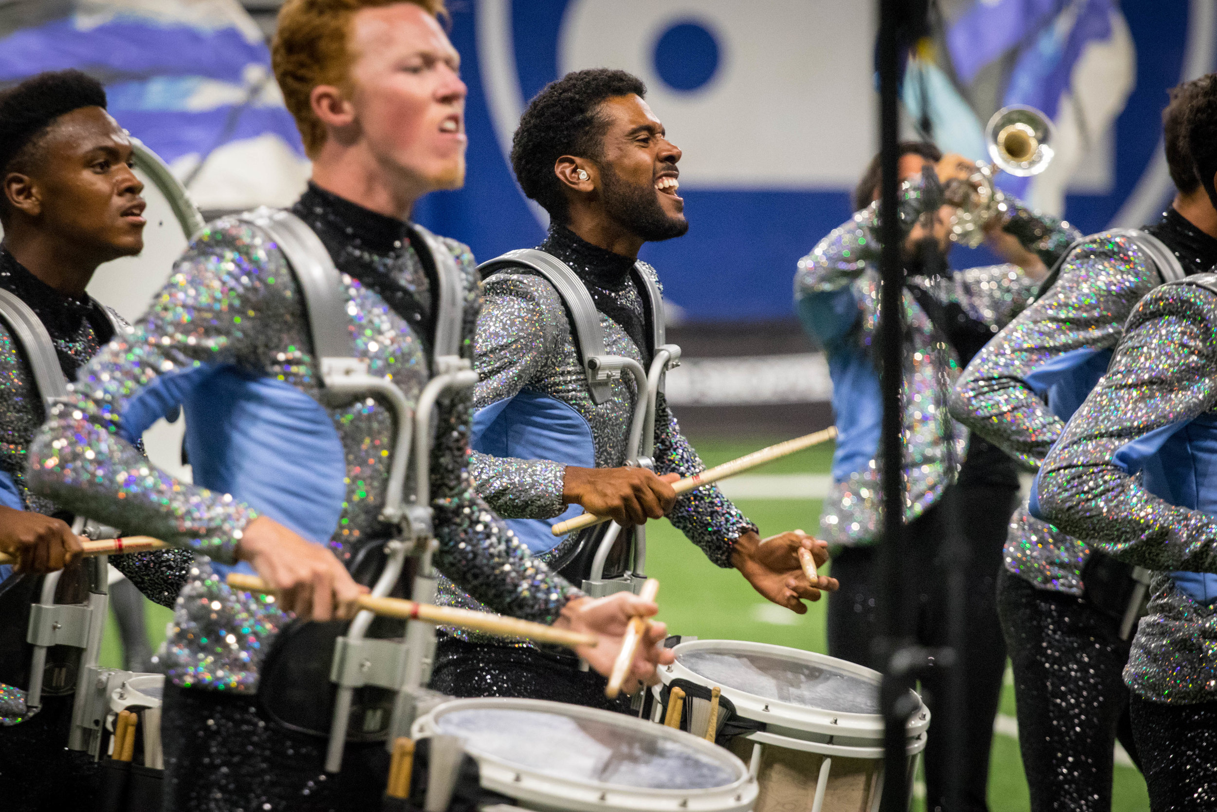 """2019 - For the 2019 season I spend most of my summer remotely contributing to the Blue Knights, hoping on tour with the group while they were in Texas. Because of this I was only on to photograph 3 shows and challenged myself to capture the best images I could possibly get. The 2019 production """"I Remember Everything.."""" was a show I loved watching over and over again and am very thankful for the images I was able to capture."""