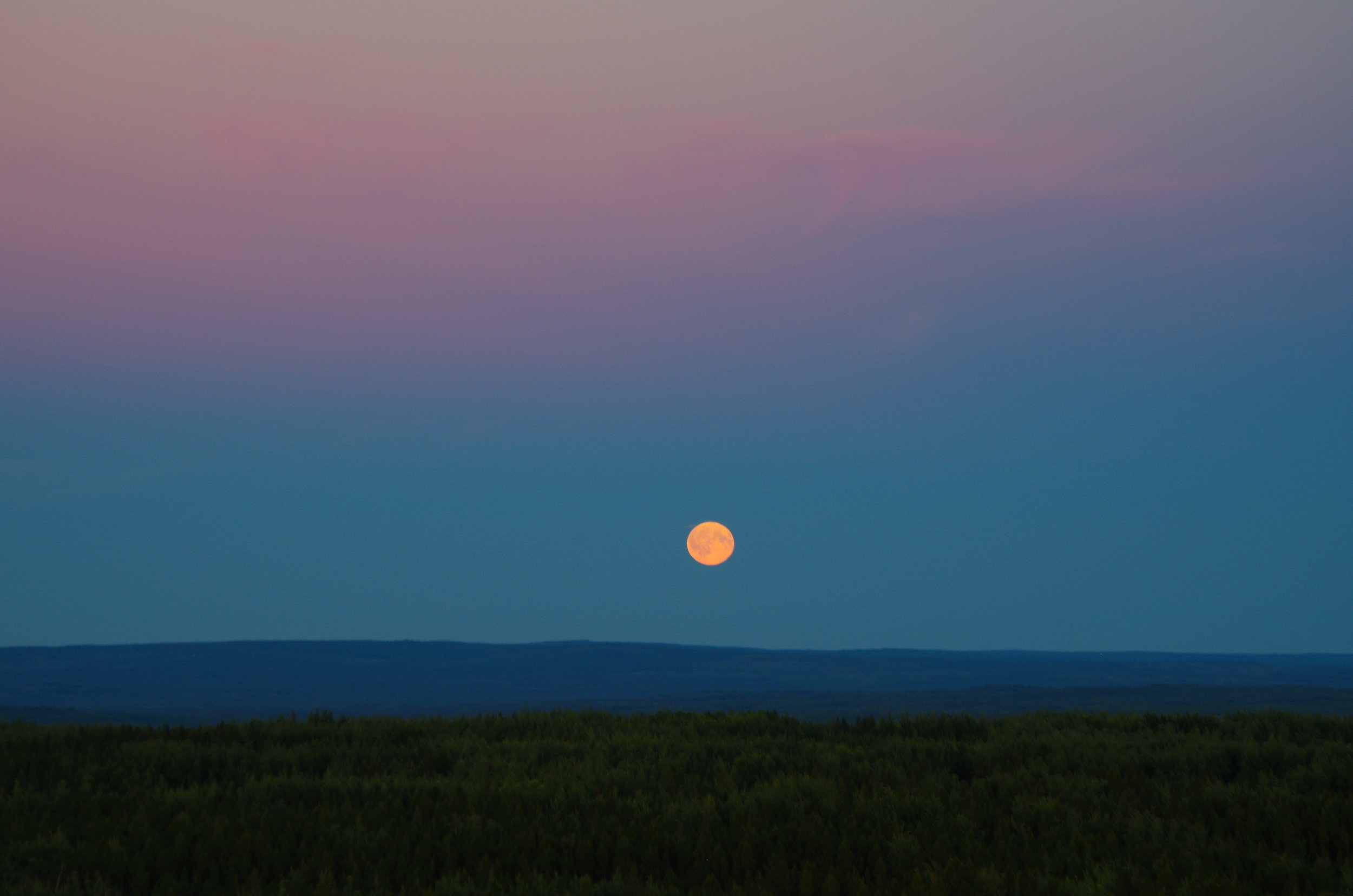 Full moon rising. (Photo by Trina Moyles)