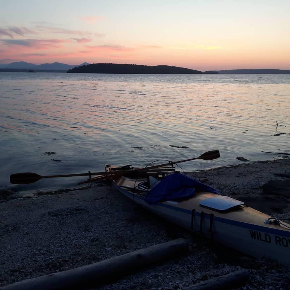 Sunset on Valdes Island. (Photo by Genevieve Gay)