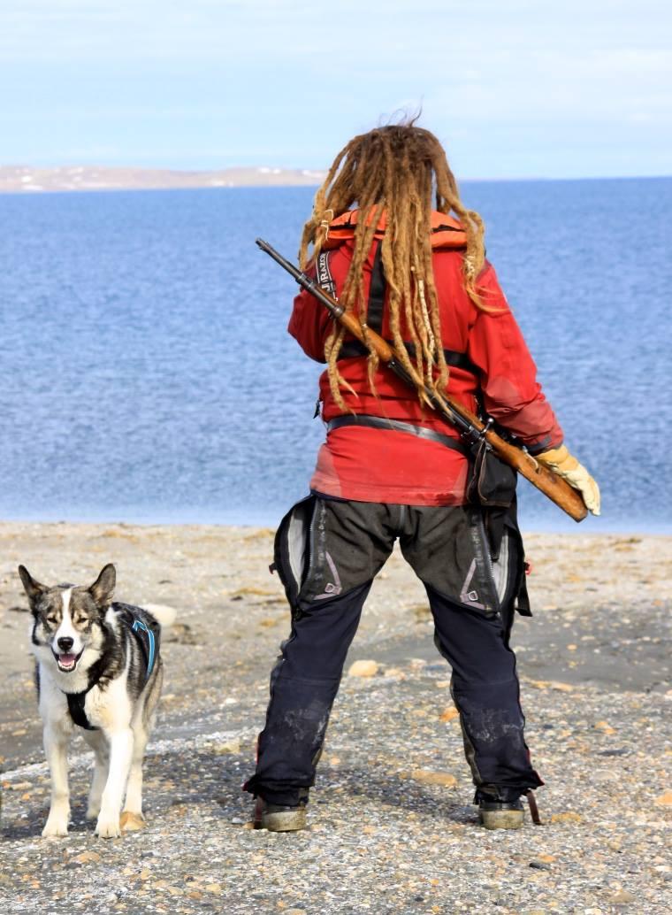 Polar bear guard and her husky sidekick. (Photo - Jenna Butler)