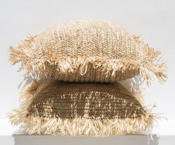 Raffia Fringe Cushion I $12ea I Qty 8