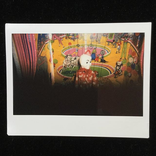 Pepe the clown. For a nickel you can make him dance. A childhood favorite though it looks creepy as hell here. #vintage #clown #marrionette #circus #instax #instantphotography #artistsoninstagram