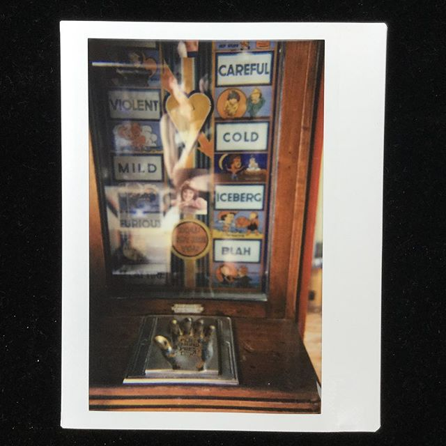Place Hand Here  #hotornot #vintagearcade #fortuneteller #instax #instaxwide #instantphotography #filmphotography #artistsoninstagram