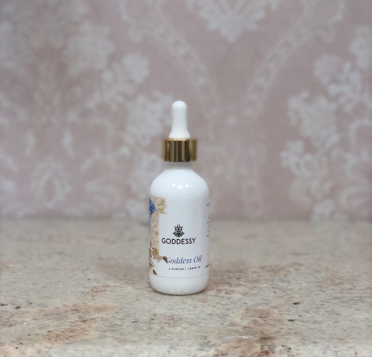Goddess Oil - A light leave-in oil perfect for blow-dry styling or adding extra shine.