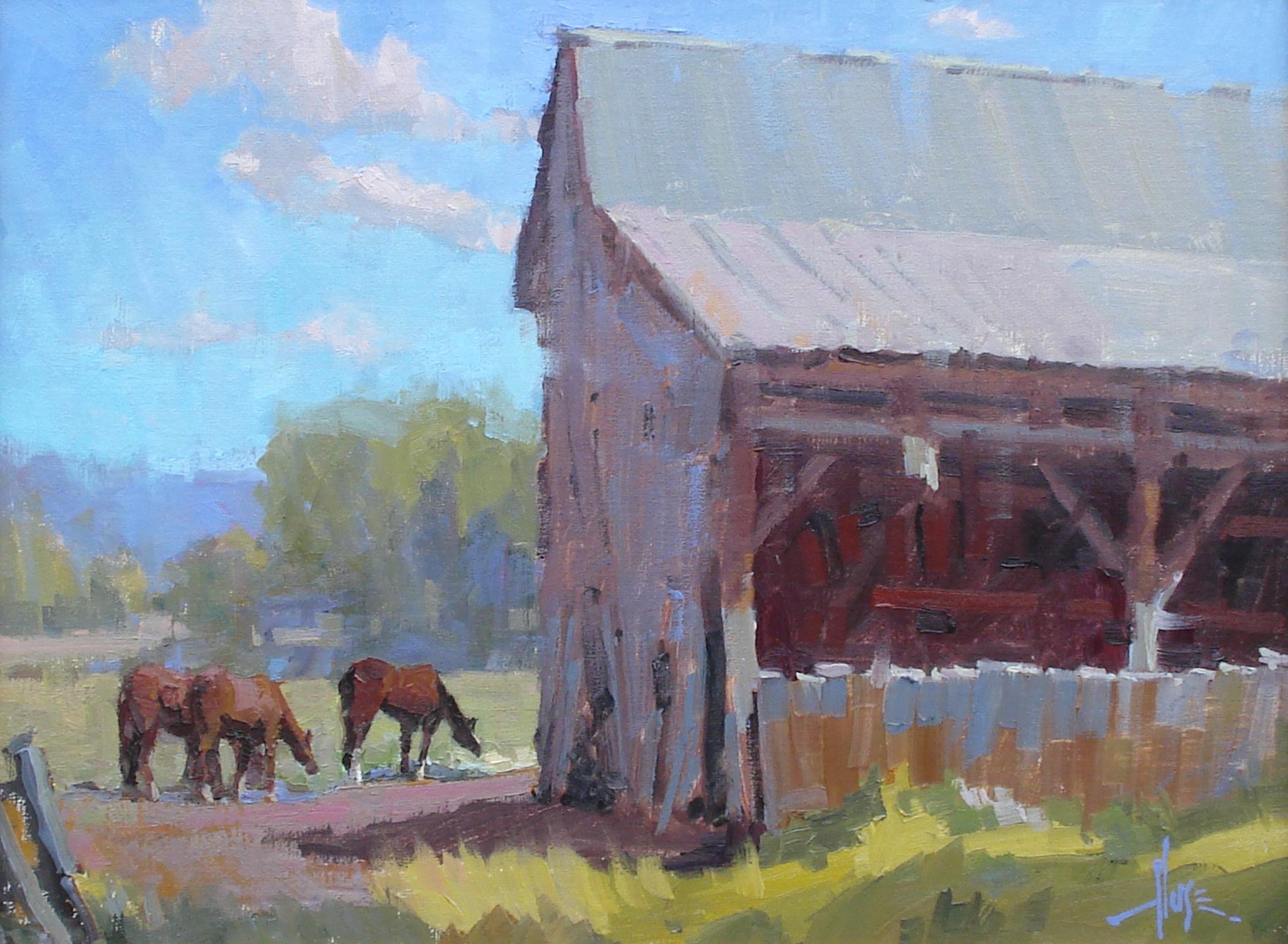 Pasture Pals 12x16 © Debra Huse 2015Plein Air Maynard Dixon Camp Out  copy.jpg