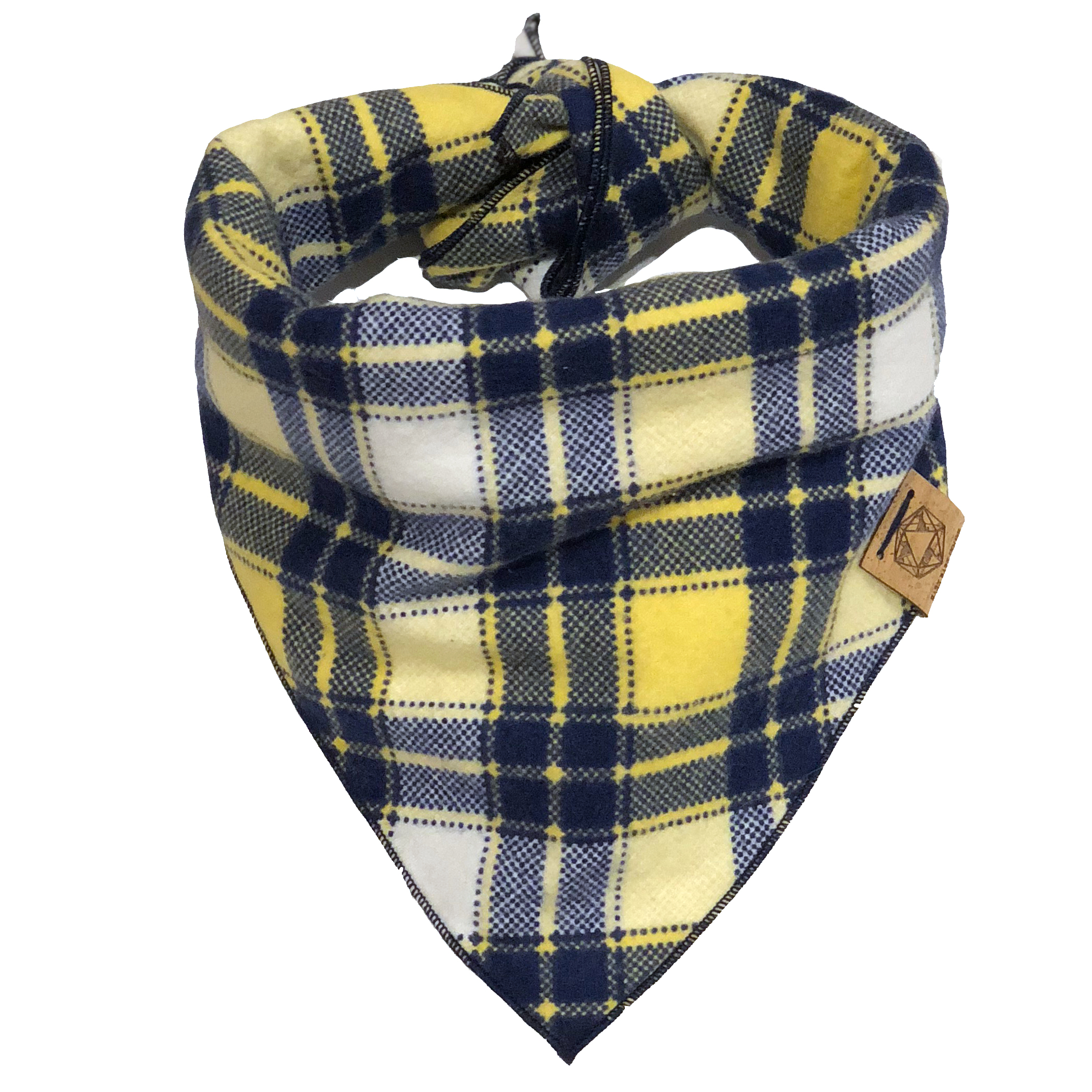 blue-and-yellow-plaid-bandana-for-dogs