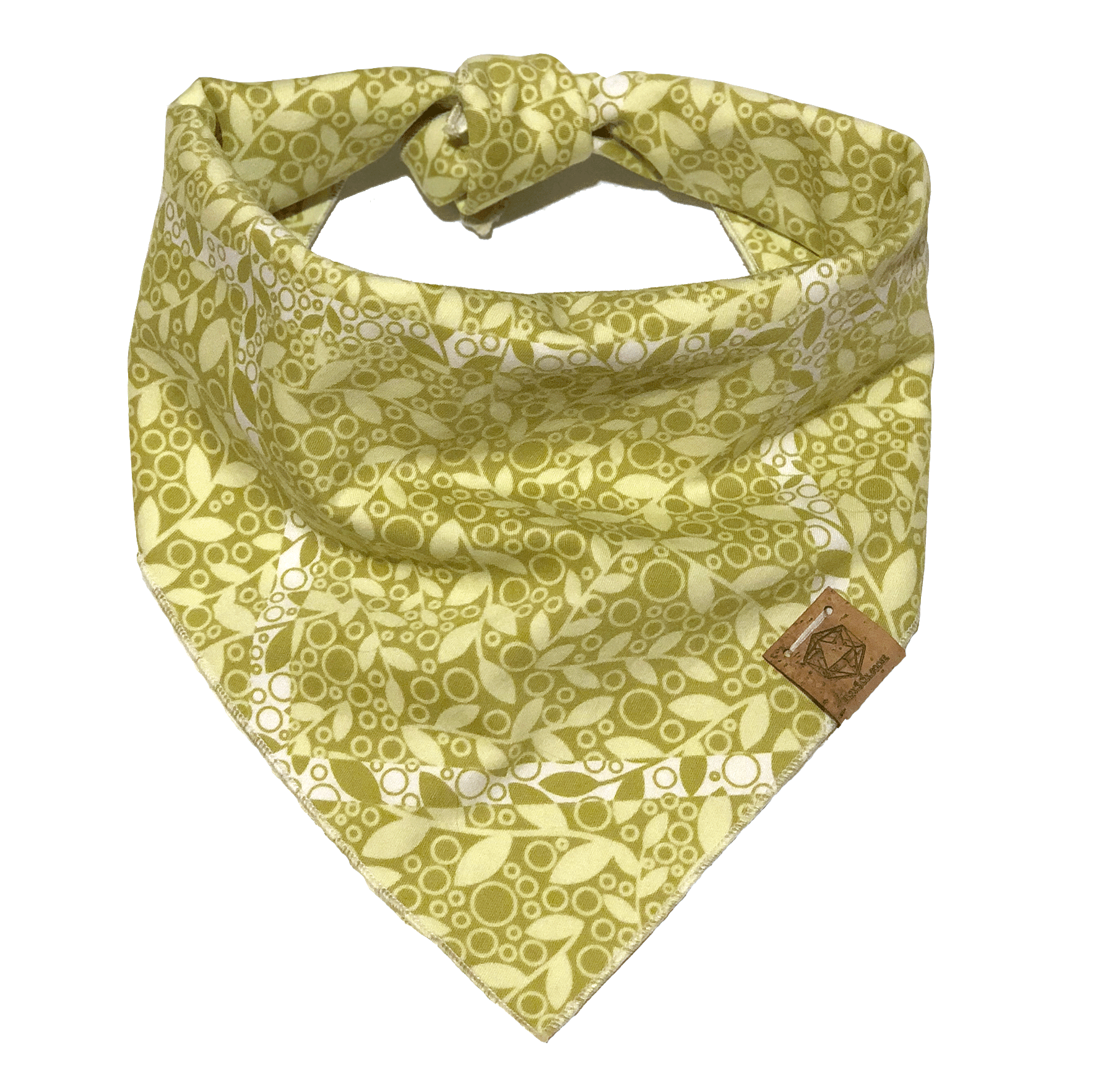 light-green-plants-print-spring-summer-dog-bandana