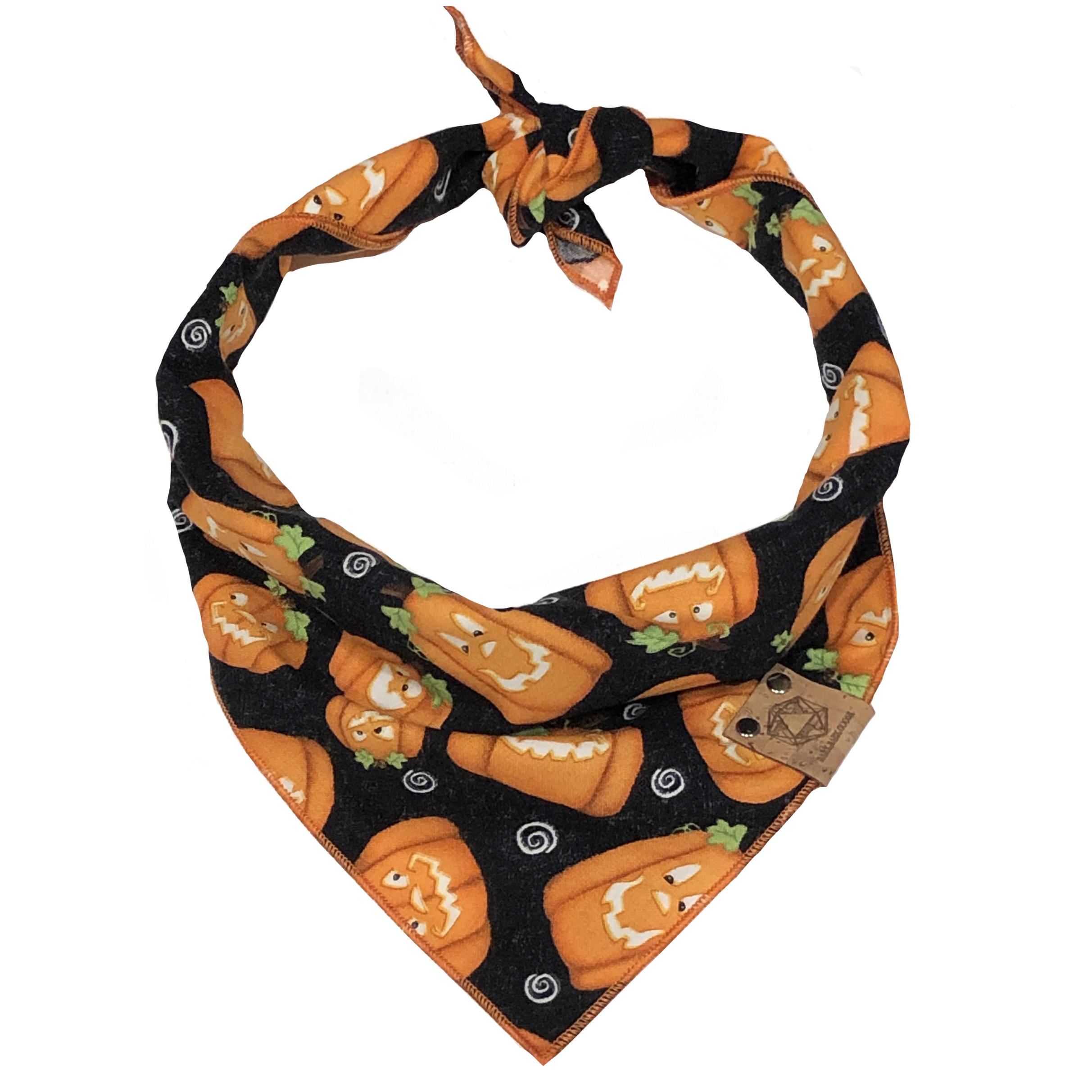 pumpkins glow in the dark halloween dog bandana.jpg