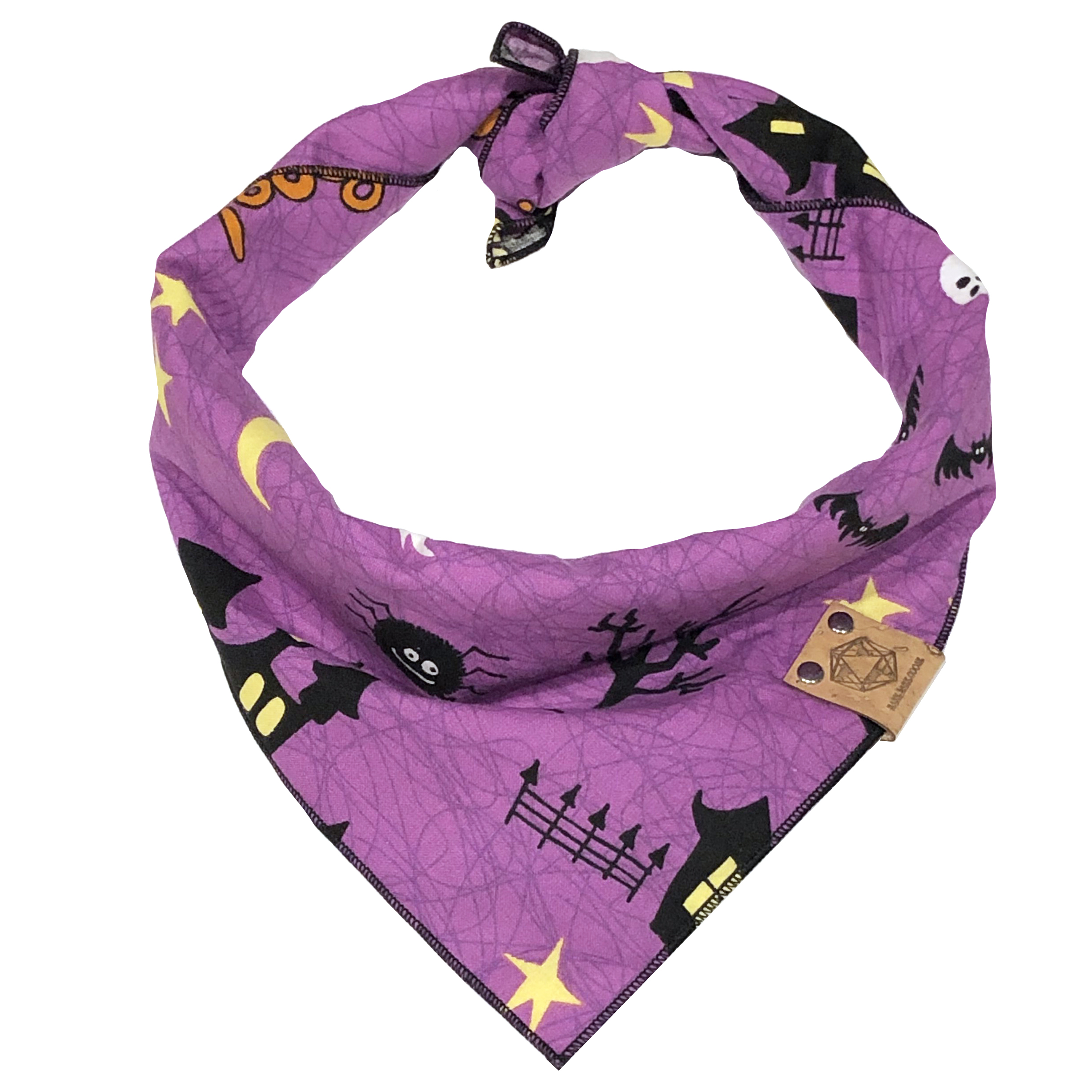 purple haunted houses dog bandana for halloween.jpg