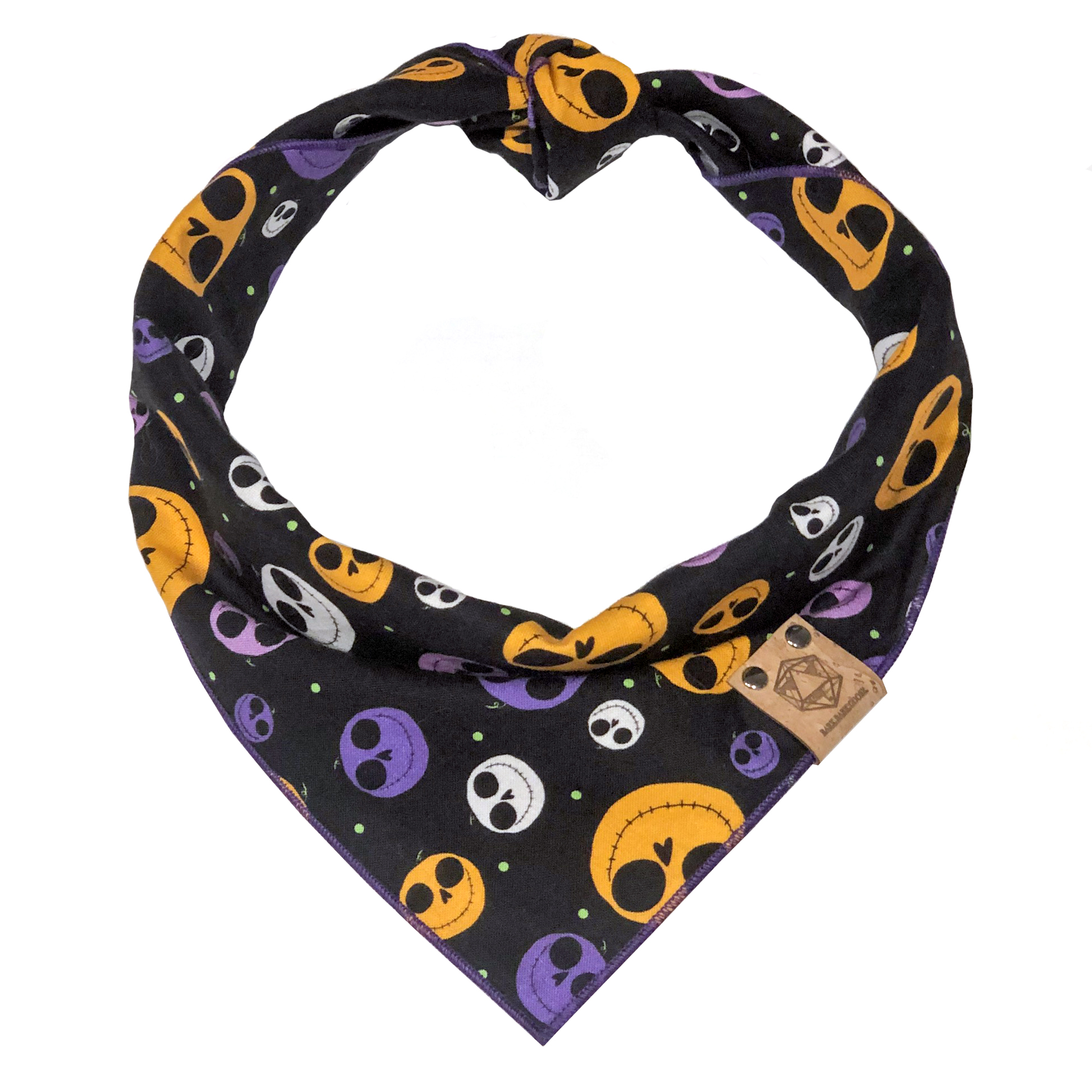 halloween dog bandanas skeleton heads jack skellington.jpg