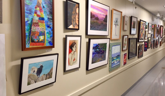 Artwork hung on the Gallery Wall - Come by to see all this beautiful work in person!