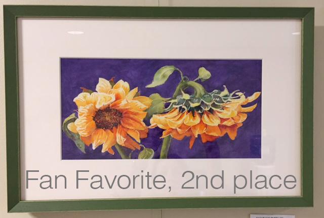Fan Favorite, 2nd Place (tie) - September 16 (watercolor) by Susan Parente McGillicuddy