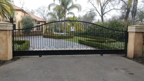 Driveway Entry Metal Gate
