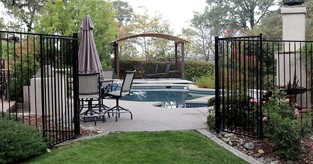 We are usually installing driveway gates and fences for our customers, so it was refreshing (no pun intended) when we got the call to make this pool gate and fence. These pool fences and gates are great to keep both animals and children out of the pool without permission, perfect for keeping everyone safe and your beautiful pool clean! ˙  #poolgate #poolfence #eldoradohills #ironworkiscool #irishiron