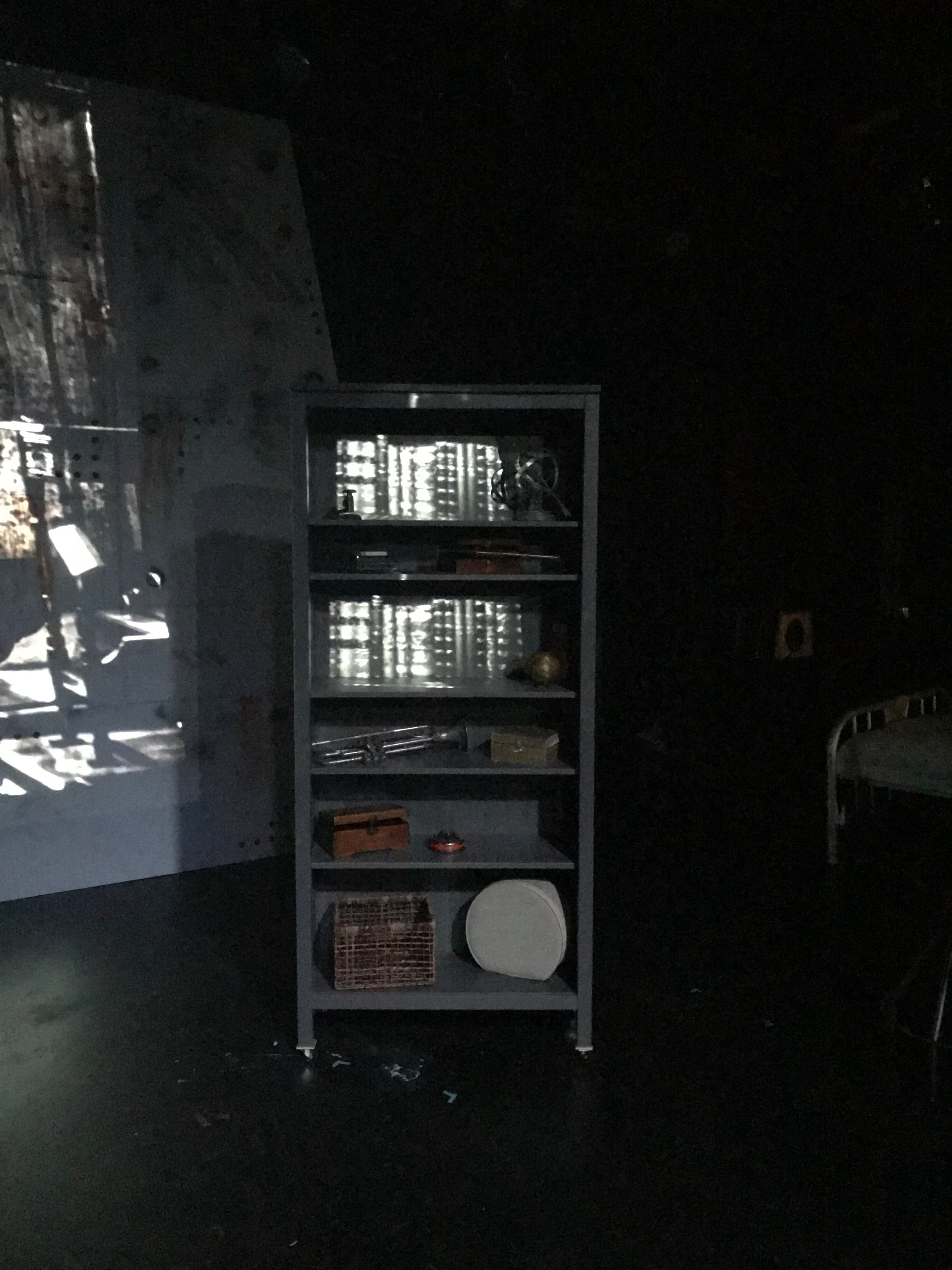 Particularly proud of this one. I was able to projection map books onto this bookshelf to collaborate with the set designer.