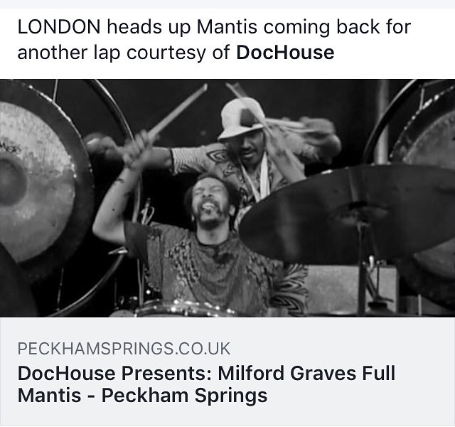 London: Full Mantis is back March 17th at Peckham Springs via @berthadochouse