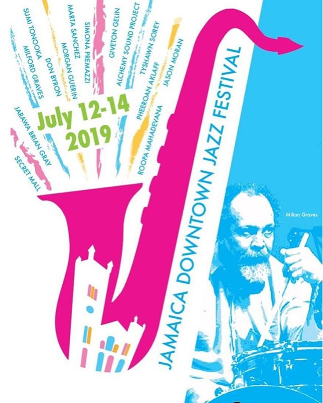 JAMAICA, QUEENS JAZZ FESTIVAL @fullmantismovie tonight at 5pm, then Jason Moran & Tyshawn Sorey in a special tribute concert for Milford Graves at 8pm. Tomorrow Graves takes the main stage for a solo performance followed by Don Byron.
