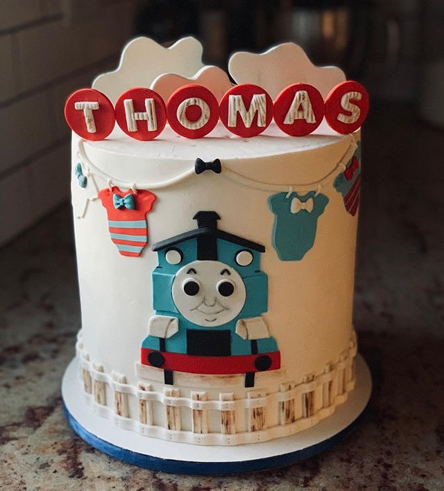 "🚂 Welcoming baby Thomas with this cute babyshower themed cake. This unique design was inspired by the popular #ThomasTheTank cartoon. The cake flavor is our signature version of Dulce de Leche. . PRO TIP: ""You can copy all you want but you will always be a step behind"". My background in art (baking and ethics) stays true to my brand which is why I will not copy a cake design already created. There are many cakers in this industry and making sure your personal style is truly your own style separates you from the rest. Not to be better, simply to be unique. . #confections  #instagood  #cancon #instagood #instadessert #sugarart #baking #colorhunter #dessertgram #instadessert #instabaker #bhgbaking #f52gram #foodgawker #thekitchen #feedfeed #sweetmagazine #droolclub #teamchomp #spatulafeed #sweet #homemade  #yum #hungry #delicious #undiscoveredbaker #bakeyourworldhappy #treatyourself"