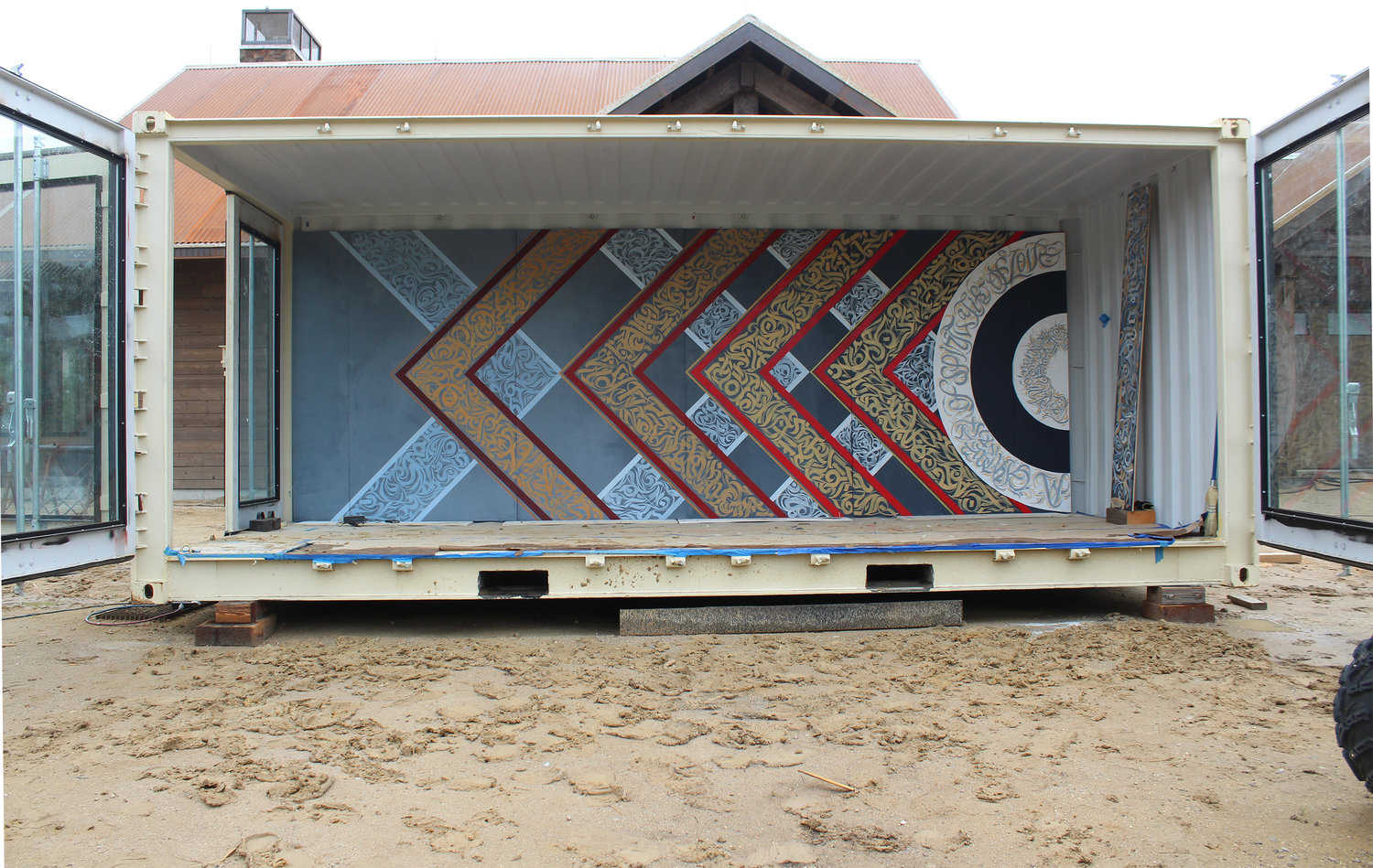 Studio Protos | Mobile Container Office Mural
