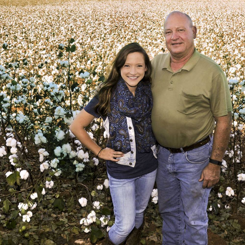 Anna Brakefield and Mark Yeager, founders of Red Land Cotton