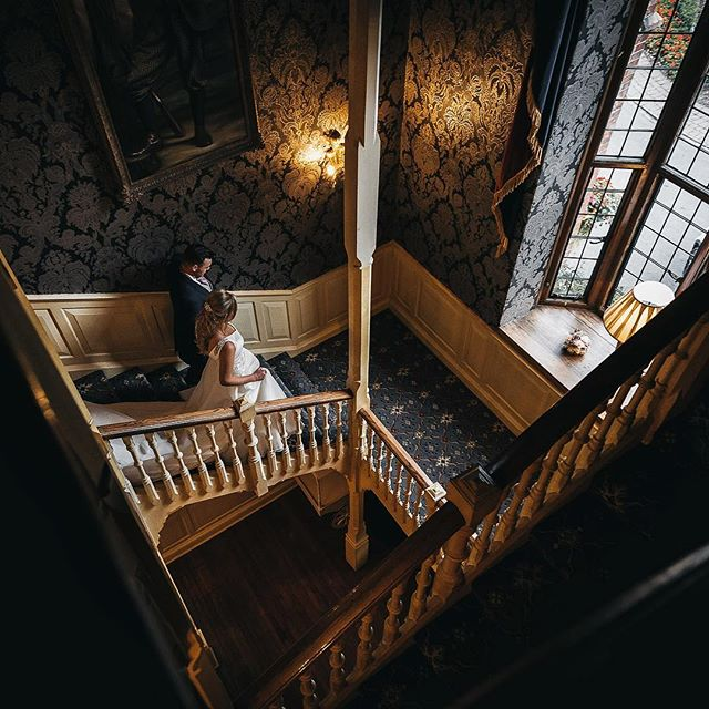 Another shot on the staircase at @aldwarkmanor with the lovely Abbie & Marcus.