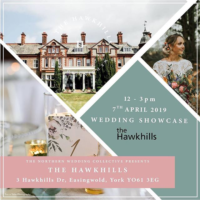 Lots of great things going on at @the_hawkhills this Sunday between 11am and 3pm. Full wedding showcase with plenty of setups and suppliers who will be there to show off their services and who will be ready to chat about your big day to give you some great wedding related advice. Come along, bring your wedding friends and have a great day out!