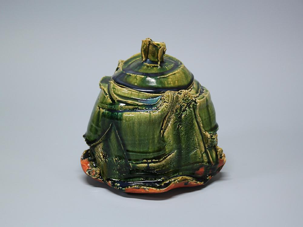 HIGASHIDA Shigemasa Oribe Water Jar 1.jpg