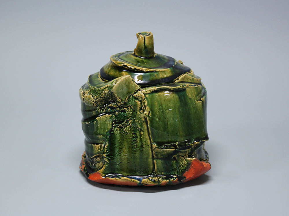 HIGASHIDA Shigemasa Oribe Water Jar 2.jpg