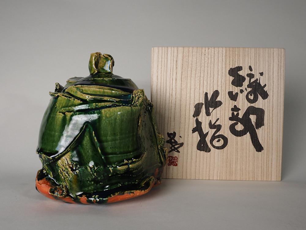 HIGASHIDA Shigemasa Oribe Water Jar 6.jpg