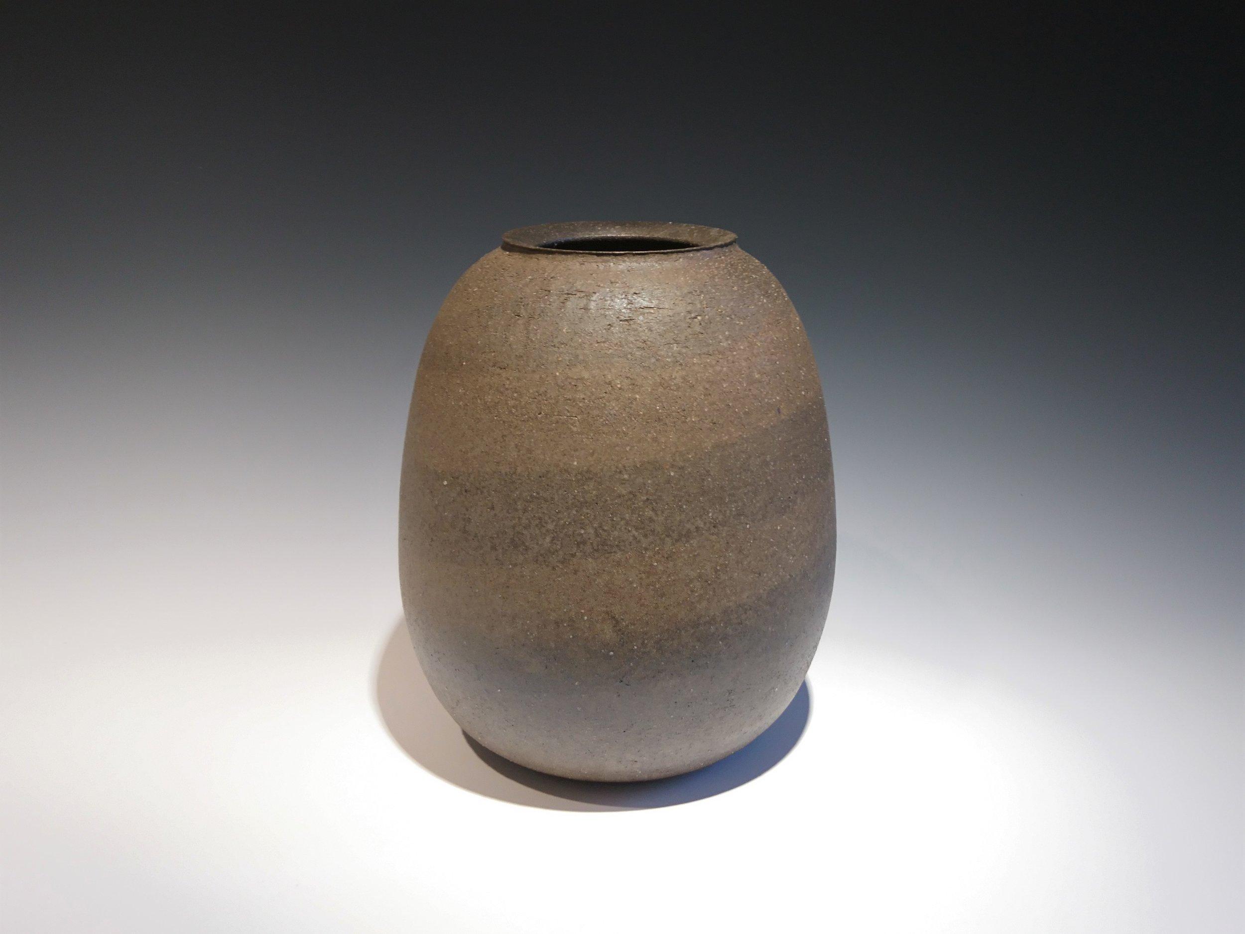 ONODERA Gen Suzu style Marbled clay Jar.JPG